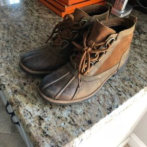 ae5e74aaa00 UGG Heather Waterproof Lace-Up Bootie